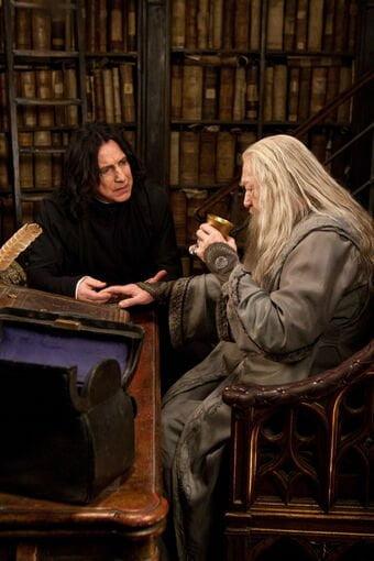 personaje secundario Snape y Dumbledore